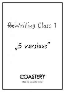 Coastery Writing Class 1