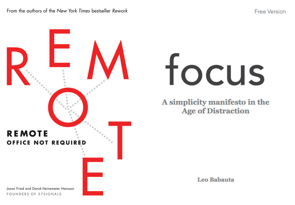 Focus & Remote. Two Books Every Remote Worker Should Read