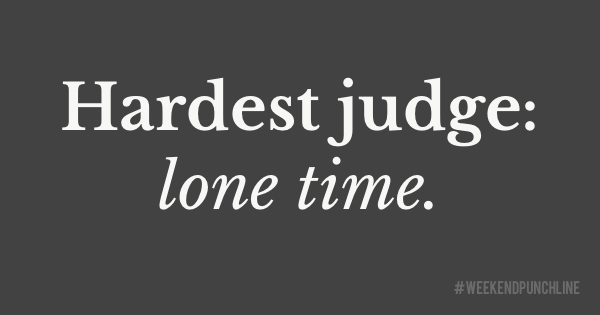 Hardest judge: lone time